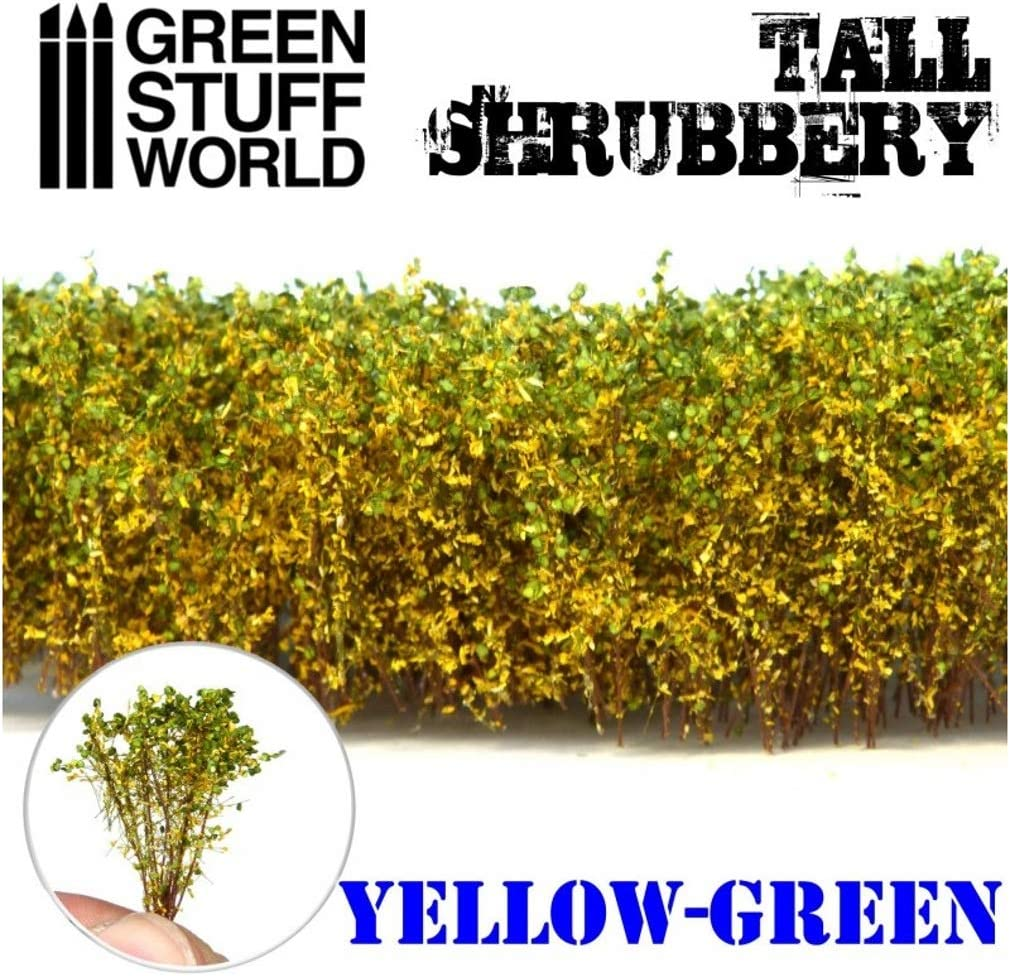 Green Stuff World Tall Shrubbery Light Green