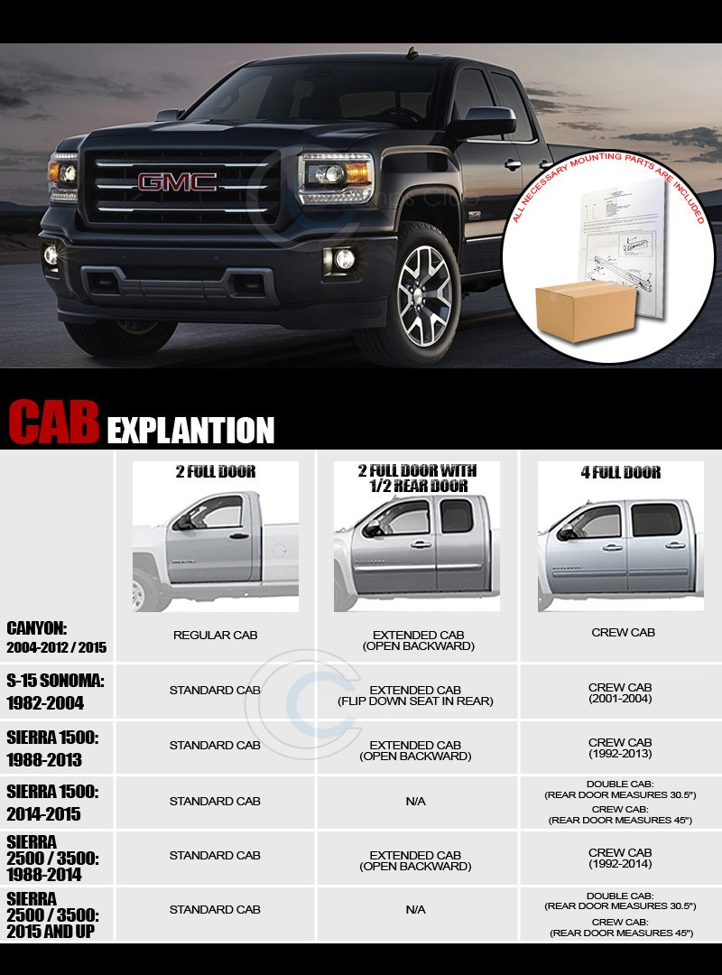 R/&L Racing Side Step Bars Compatible with Chevy Silverado//Sierra EXT Cab 07-16 5 Chrome Nerf Rail Running Boards