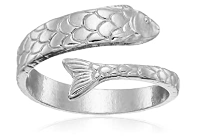 Famous Amazon.com: Alex and Ani Ring Wrap, Fish, Sterling Silver  LQ89