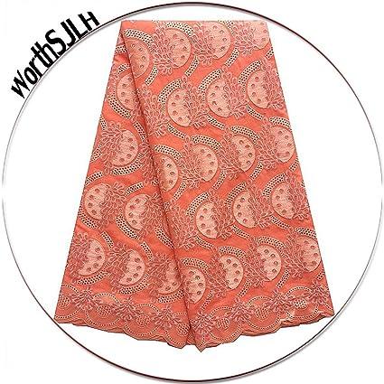 472ed59e7 Amazon.com: WorthSJLH Swiss Voile Lace Fabric African Cotton Lace ...