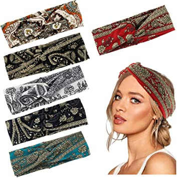 Turban Head Wrap red paisley headband Regular Headband Original Headband Thick Headband Women/'s Headband