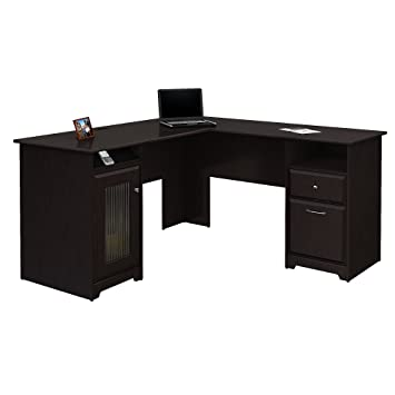 Wondrous Bush Furniture Cabot L Shaped Computer Desk In Espresso Oak Download Free Architecture Designs Intelgarnamadebymaigaardcom