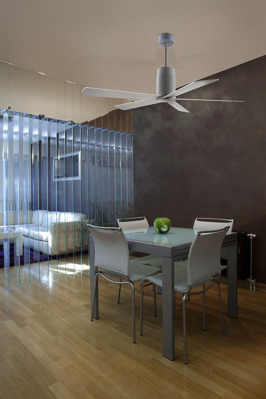 Deckenventilator Rodas Grau inklusive Fernbedienung 132 cm von LEDS-C4 inklusive Montageset
