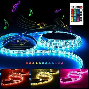 Tira LED Activada por Música,RGB SMD 300 LED - 5M de longuitud - 12V