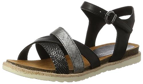 Marco Tozzi Damen 28410 Offene Sandalen mit Keilabsatz