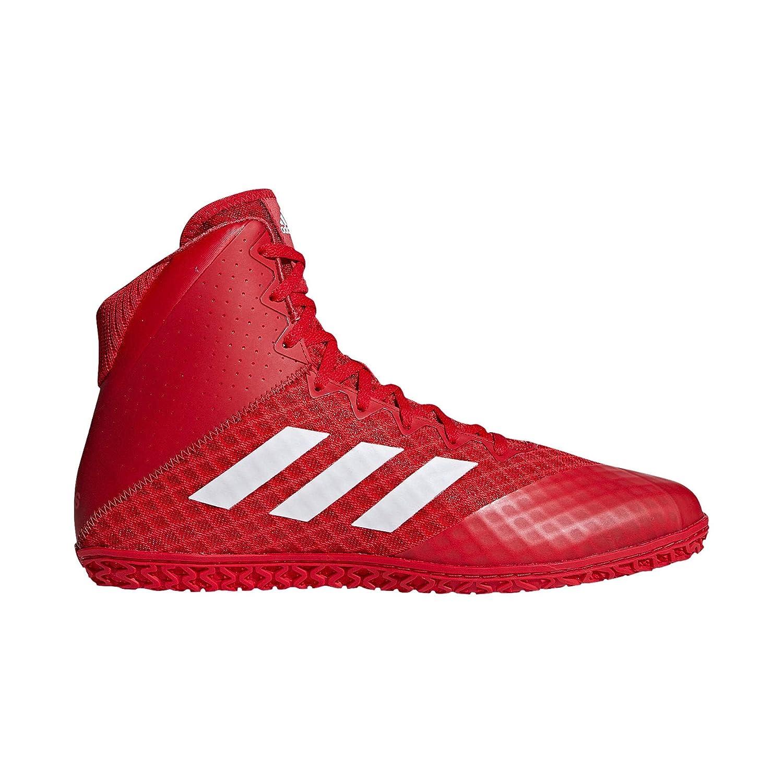 Adidas Mat Wizard 4 Wrestling Scarpe, (rosso bianca), 16 D(M) US | Conosciuto per la sua eccellente qualità  | Scolaro/Ragazze Scarpa