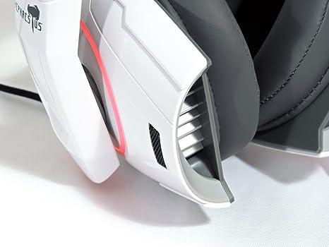 Gamdias HEPHAESTUS - Auriculares Gaming de diadema cerrados (con micrófono, USB) color blanco: Amazon.es: Electrónica