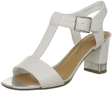 Clarks Smart Deva Womens Ankle Strap Sandals White White Leather 8