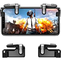 Mobile Game Controller【Upgraded Version】- PUBG/Fortnite / Knives Out Mobile Controller, Hill & Wood Sensitive Shoot and Aim Triggers for L1R1 Mobile Game Trigger Joystick for Android & iPhone