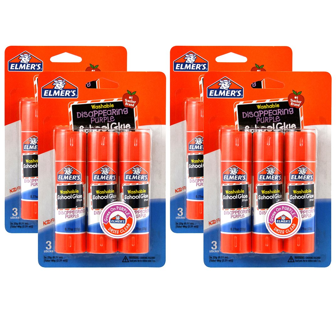 Elmer's All-Purpose Glue Sticks.77 oz, 12 Pack (E517) Elmers