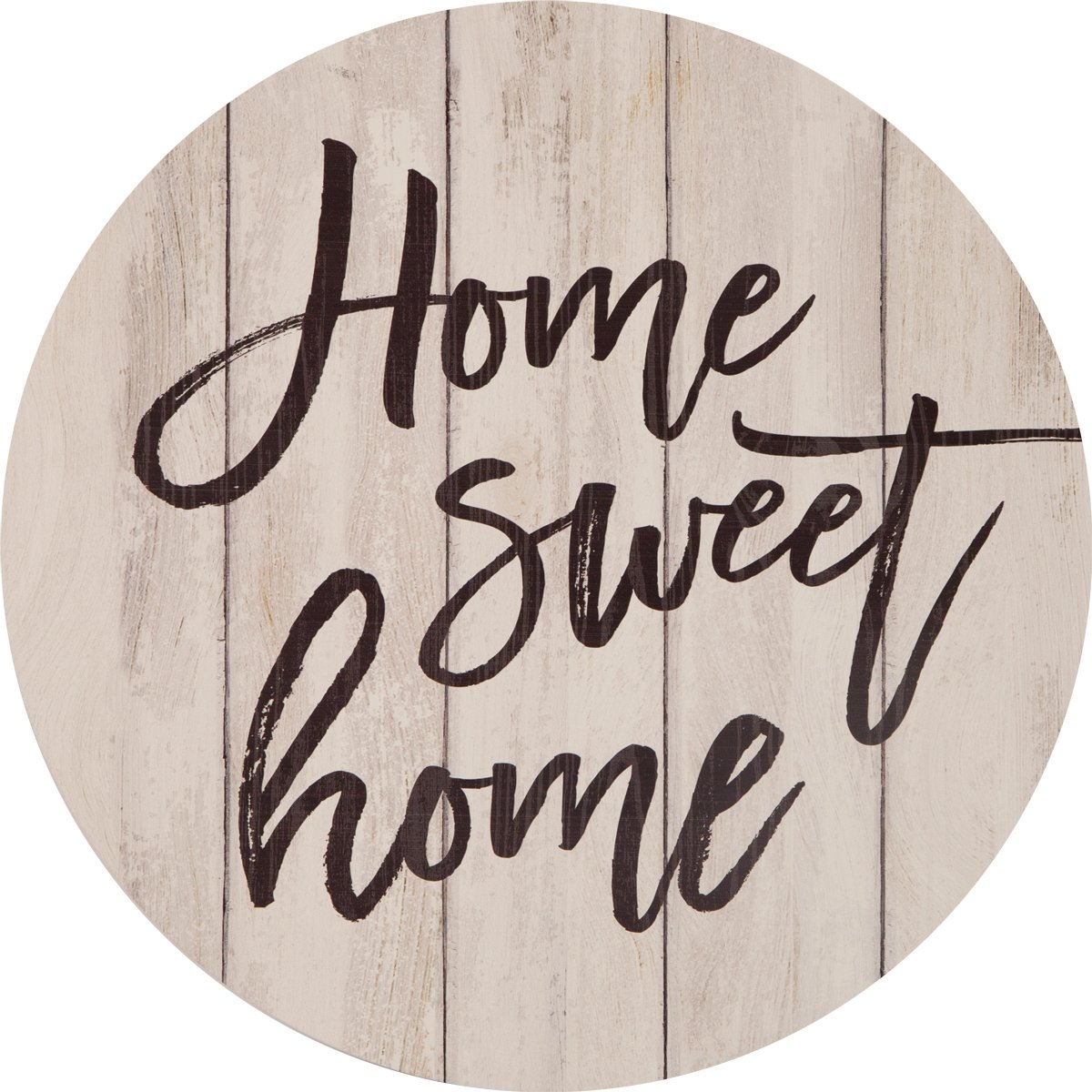 Home Sweet Home Script White Weathered 17 Inch Wood Barrel Top Wall Plaque Sign
