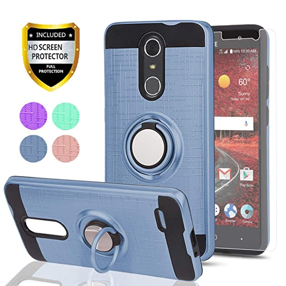 sports shoes a2b53 6d595 ZTE Grand X4 Z956 Case,ZTE Blade Spark Z971 Case with HD Phone Screen  Protector,Ymhxcy 360 Degree Rotating Ring & Bracket Dual Layer Resistant  Back ...