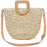 Straw Shoulder Bag, Kadell Straw Clutch Women Handmade Straw Crossbody Bag Summer Beach Envelope Purse Wallet