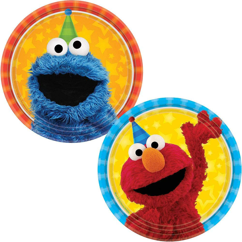Table Covers and Decorations Party City Sesame Street Tableware Party Supplies for 16 Guests Include Plates Napkins