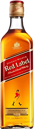 Johnnie Walker Red Label 684559 - Botella de Whisky (3 Unidades, 40%, 1 L)