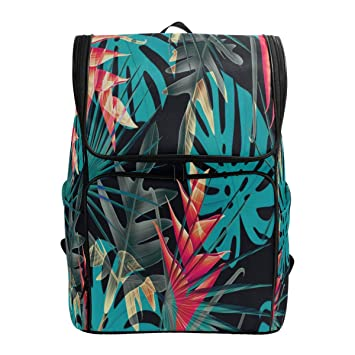54835a8a41 ALAZA Fashion Exotic Vibrant Colorful Leaves Large Capacity School Backpack  Bookbag For Collage Students Women Man