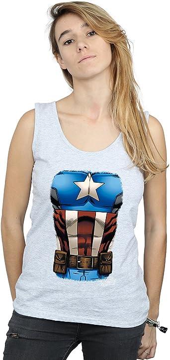 Marvel Mujer Captain America Chest Burst Camiseta Sin Mangas ...
