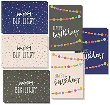 Best Paper Greetings 36 Pack Happy Birthday Note Cards Greeting 6 Handwritten Modern Style