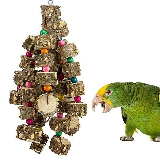 GUALA Juguete para Masticar Loros Madera Natural Pájaro Cuidado de ...