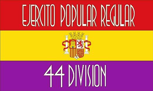 magFlags Bandera Large Reproducción de la Bandera de la 44 División del Ejército Popular de la II República Española | Bandera Paisaje | 1.35m² | 90x150cm: Amazon.es: Jardín