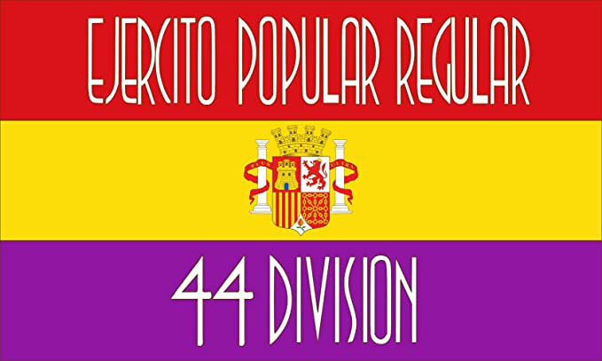 magFlags Bandera Large Reproducción de la Bandera de la 44 División del Ejército Popular de la II República Española   Bandera Paisaje   1.35m²   90x150cm: Amazon.es: Jardín