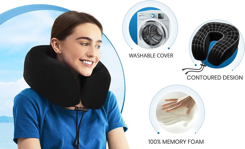 Everlasting Comfort Memory Foam Travel Pillow