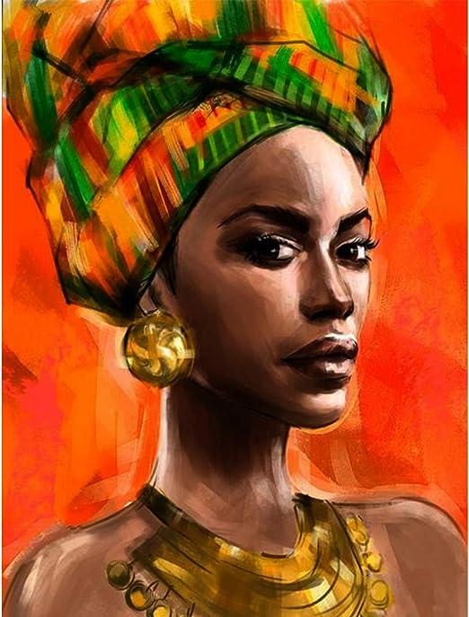 Amazon Com Leyzan 5d Kit Completo De Pintura Con Diamantes Para Mujer Africana Pintura Con Diamantes Bordado Bricolaje Manualidades Decoración 12 X 16 Pulgadas Arte Manualidades Y Costura