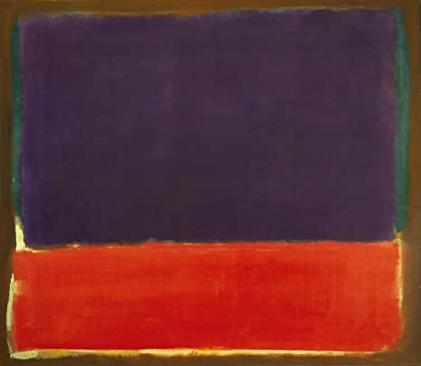 """26/""""x30/"""" UNTITLED RED BLACK WHITE ON YELLOW by MARK ROTHKO CANVAS"""