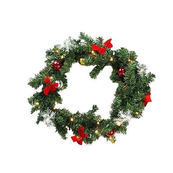 HG® Girlande künstliche Tannengirlande 100 energiesparenden LEDs Warmweiß Weihnachten Beleuchtung für In-/ Outdoor Bereich PV