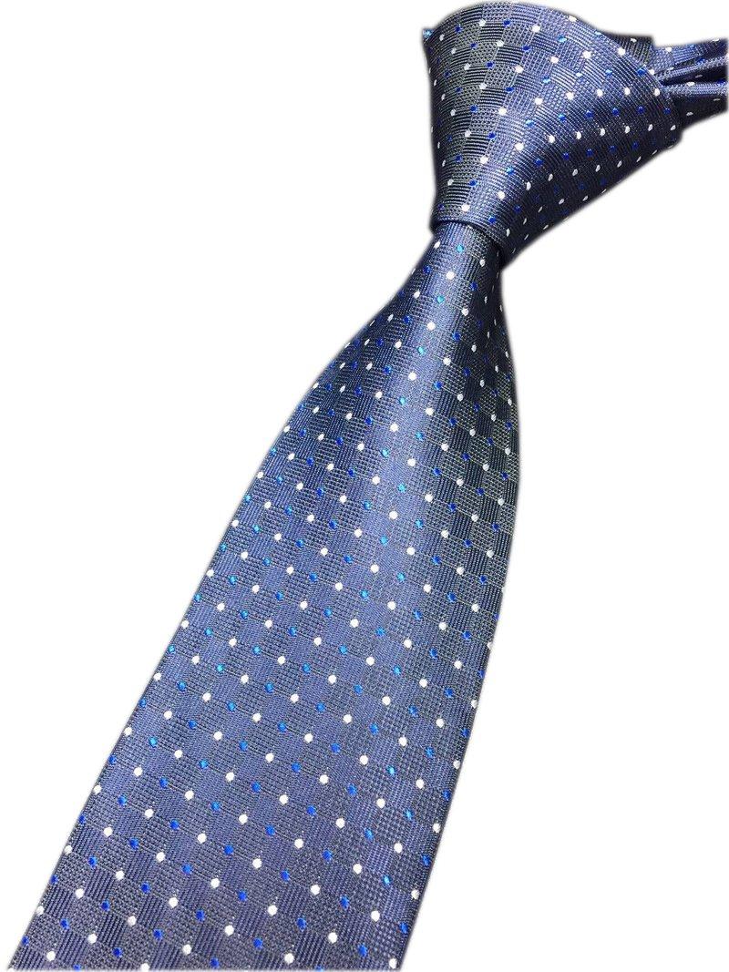 Men's Navy Blue Ties Silk Luxury Unique Awesome Designer Cool Self Dress Necktie