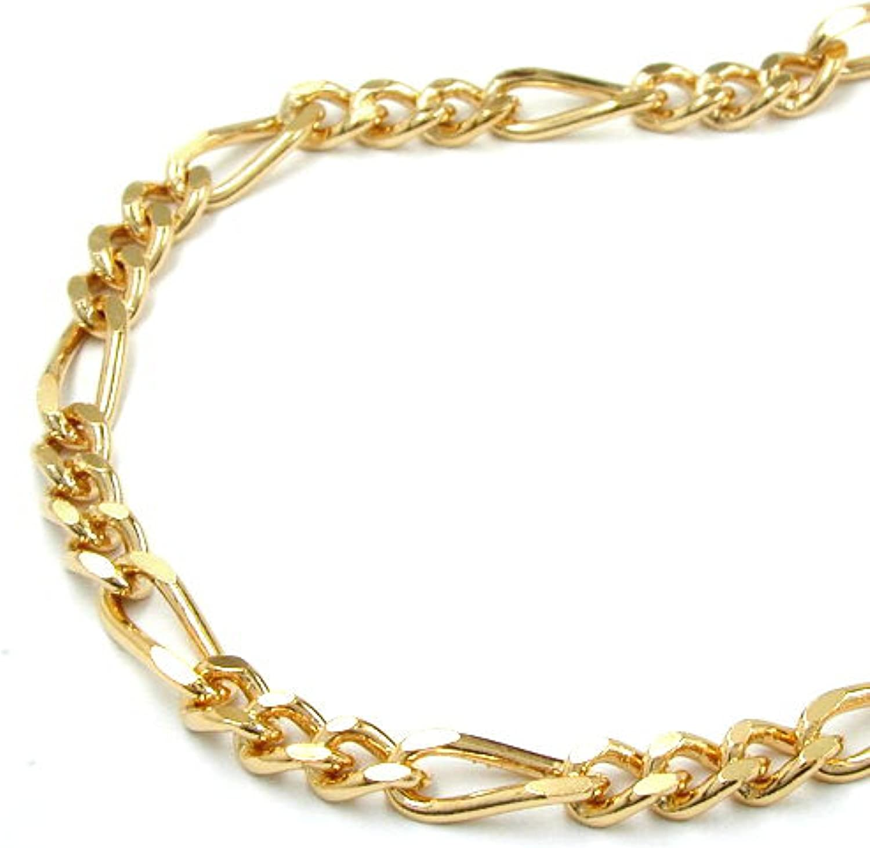 Latotsa Vergoldete Figarokette Panzerkette Panzer Figaro Kette Halskette Gelbgold Gold Plattiert Vergoldet Goldkette Schmuck