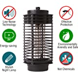 Dominator Bug Zapper Lamp-Indoor Fly Mosquito Repellent -110 v Electric Insect Killer -Mosquito Killer Lamp UV Light -Mosquito Trap -For Home-From Flying Insects- Black