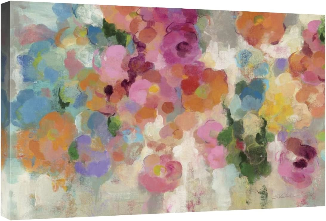 Global Gallery Silvia Vassileva, Colorful Garden I Crop' Giclee Stretched Canvas Artwork, 30 x 20