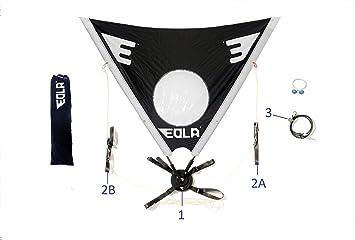 EOLA Vela para Kayak rotativa de 125 cm2 testada con Viento de hasta 50 Nudos. Incluye Todos los Accesorios para Instalar en Cualquier Superficie.