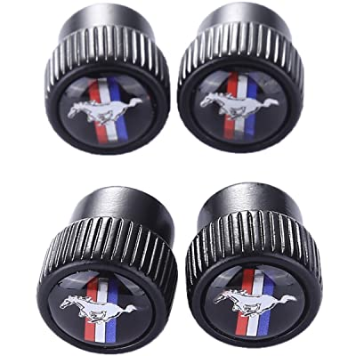 TK-KLZ 4Pcs Metal Car Bike Scooter SUV Truck Tires Valve Stem Caps for Ford Mustang Car Styling Decorative Accessories: Automotive