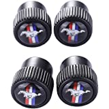 TK-KLZ 4Pcs Metal Car Bike Scooter SUV Truck Tires Premium Valve Stem Caps for Ford Mustang Car Styling Decorative Accessories