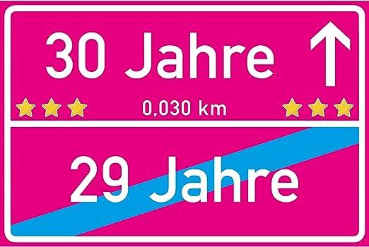vanva 30 Jahre Ortsschild 30. Geburtstag Dekoration Schild