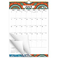 Ferirama 2019 18-Month Wall Calendar for Home and Office Decor