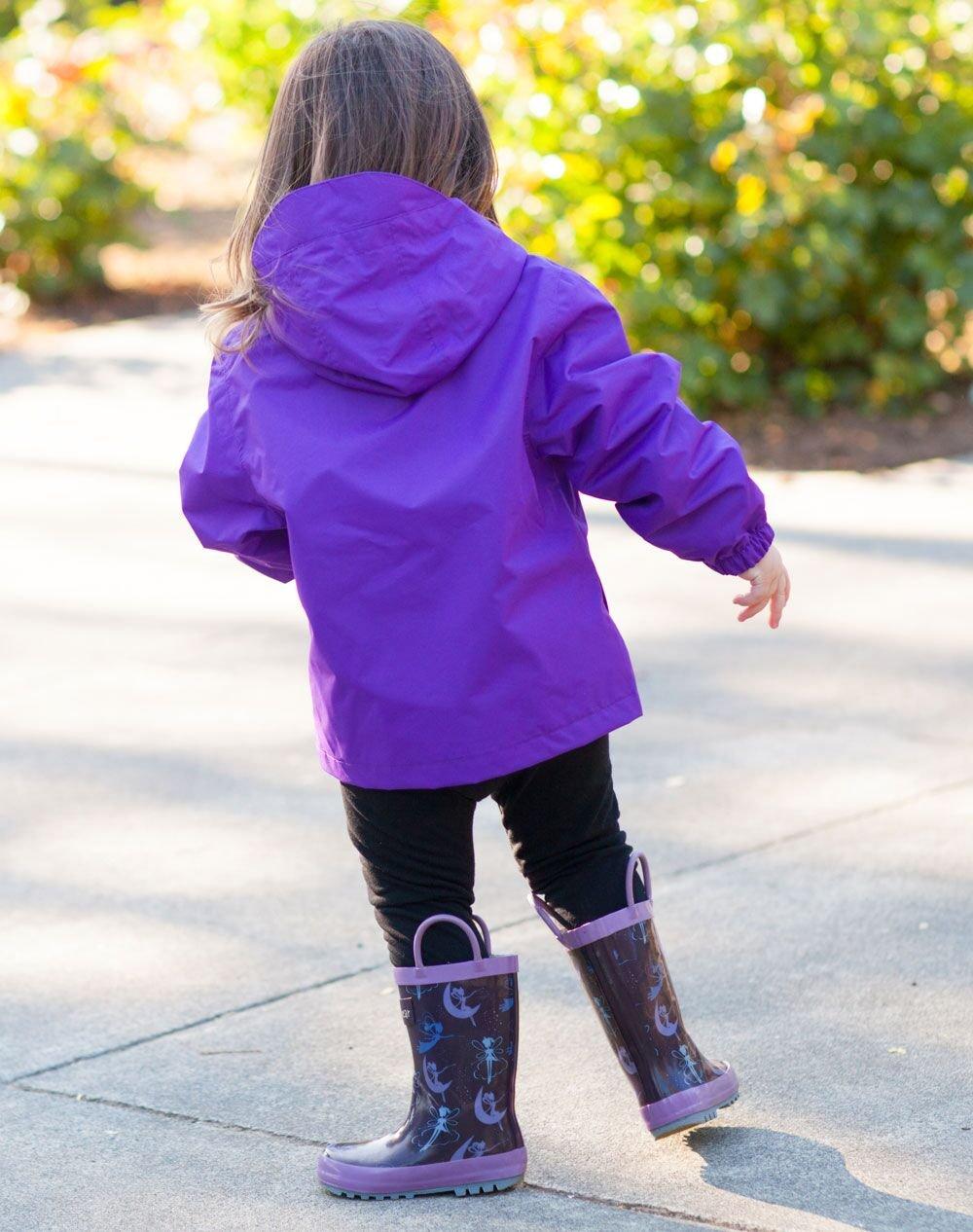 Oakiwear Kids Rubber Rain Boots with Easy-On Handles, Fairy Dust, 1Y US Little Kid by Oakiwear (Image #7)