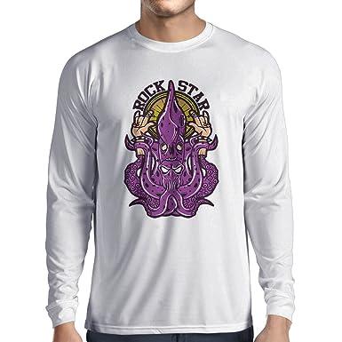 6cff00c16 Long Sleeve t Shirt Men Rock Star - Heavy Metal Hand Horns Sign, Music  Slogan, Party Band Merch: Amazon.co.uk: Clothing