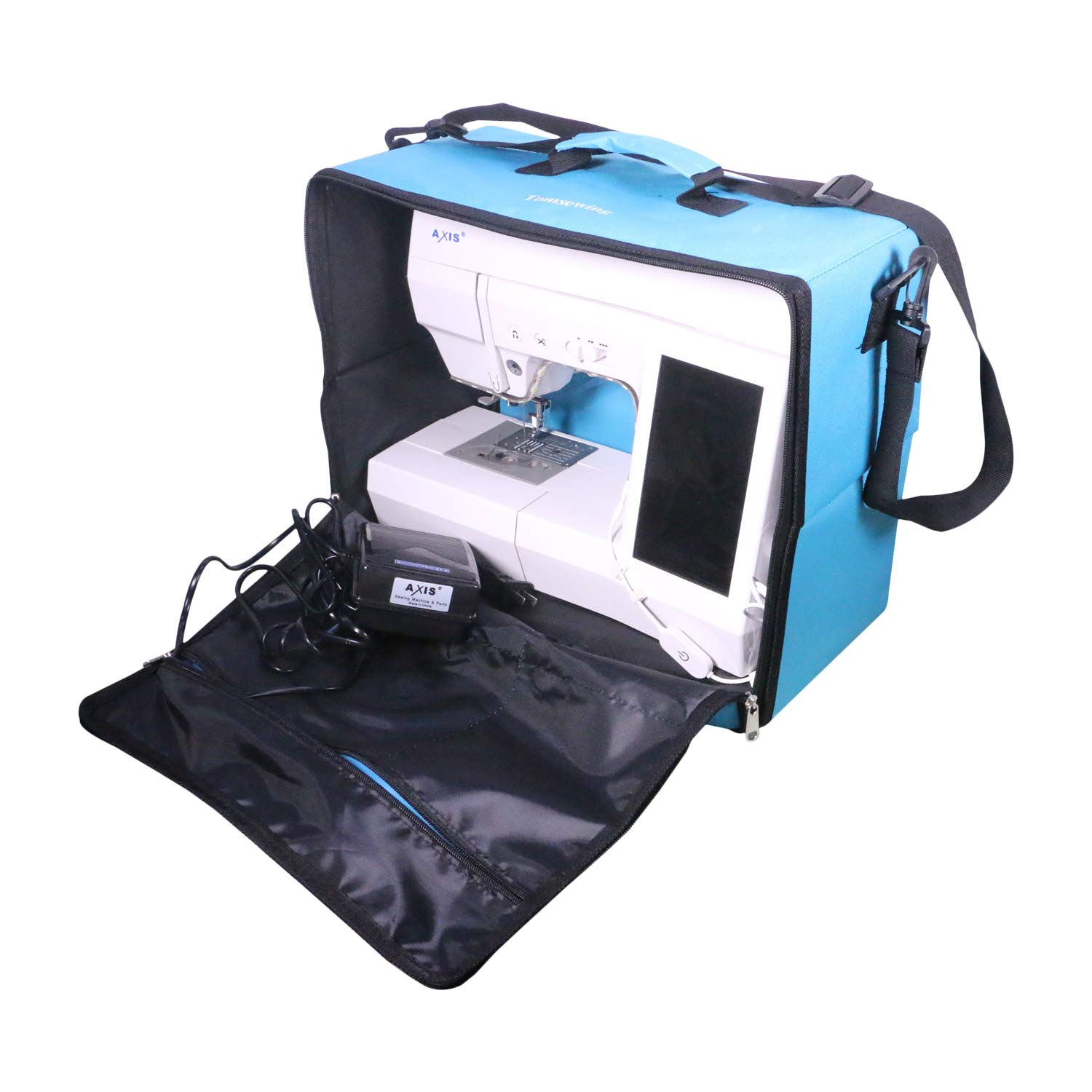 Foldable Sewing Machine Carry Case,Sewing Machine Carry Bag,Sewing Machine Storage Tote, with Waterproof Shoulder Strap - Idea for Travel Cover Storage AXIS FC001 Tomsewing