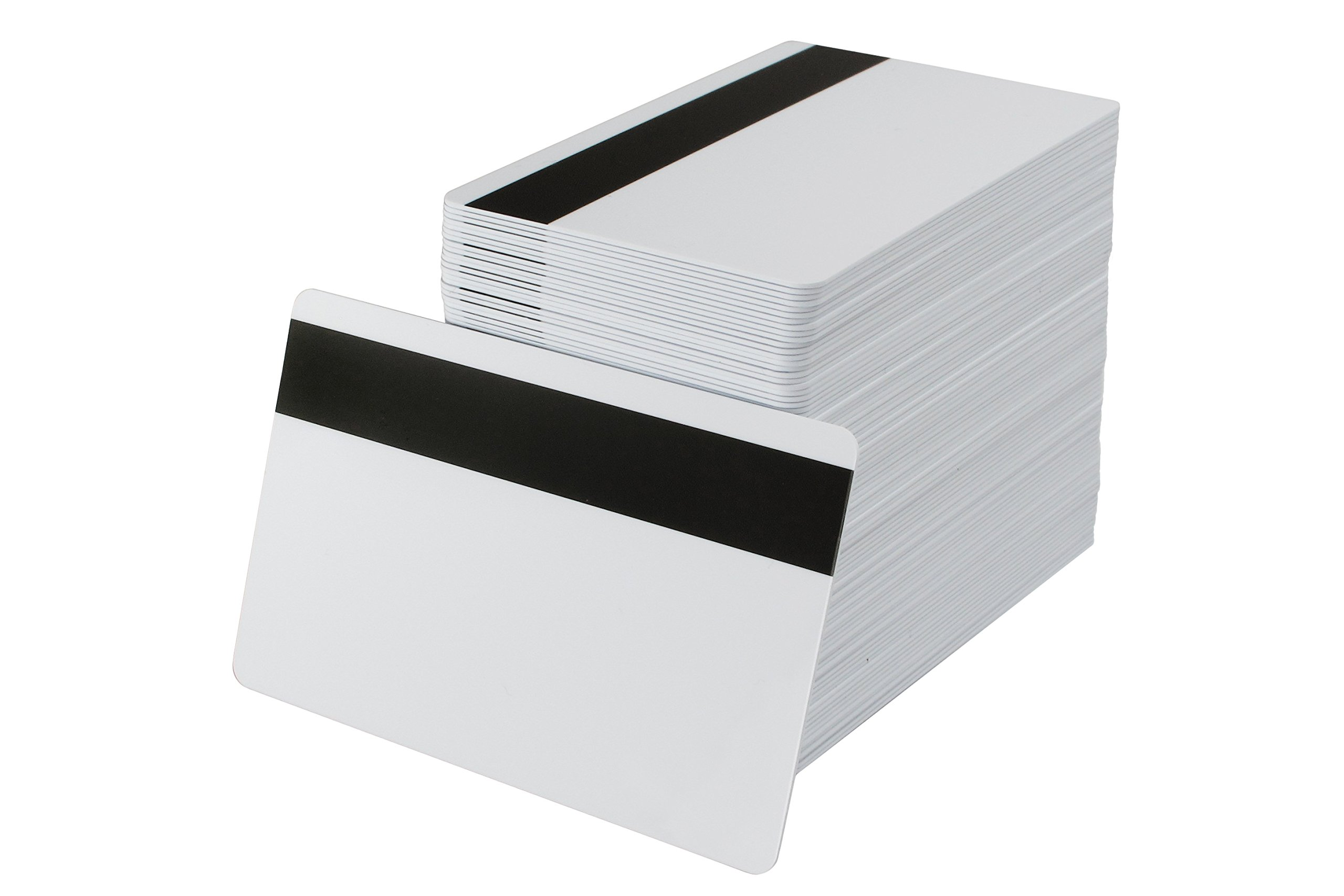 Pack of 500 White CR80 PVC Cards with Hi-Co Magnetic Stripe | 30 Mil by easyIDea