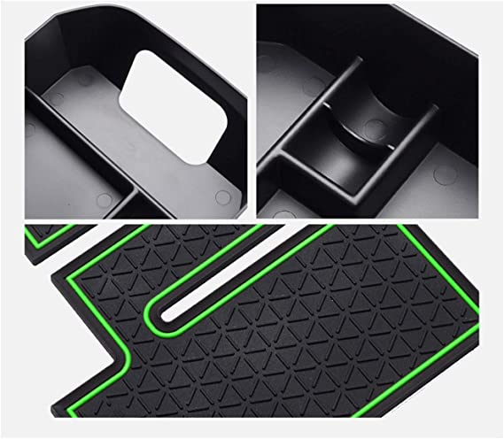 LFOTPP Armrest Center Console Organizer Tray Accessories Coin and Sunglasses Holder,Secondary Insert Storage Box for 2019 2020 RAV4 XA50 Green