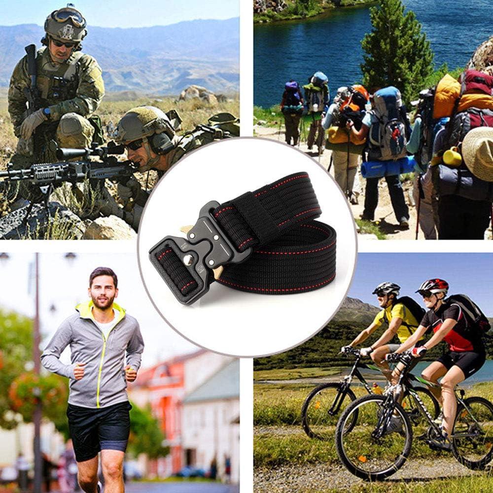 Cintura Tattica in Tela in Stile Militare da Uomo Cinturino per Cintura Tattica a Tessitura Larga con YKK Plastica Fibbia per Uomini E Donne S.Lux Cintura di Nylon