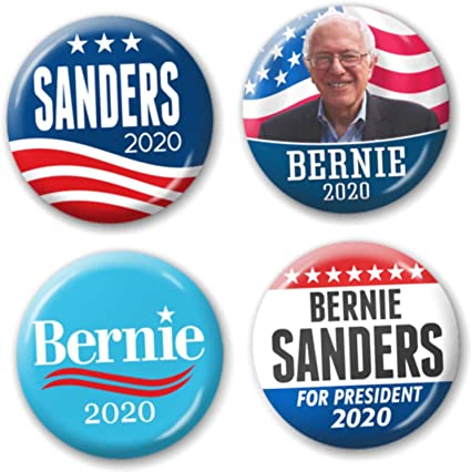 10 Bernie Sanders For President 2020 Not Me Us 2.25 Inch Buttons Pinbacks Pins