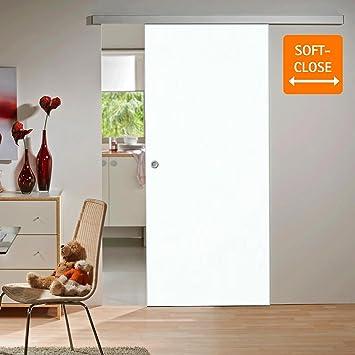 inova Holz-Schiebetür 755x2035mm weiß Zimmertür Innentür Komplettset ...