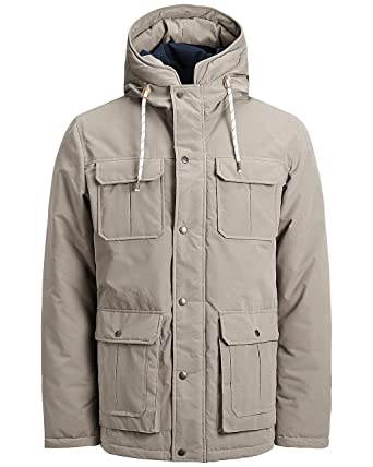 Jack   Jones Originals Jacket Mens Polyester Hooded Winter Coat Jorsteve  12139799 (Small, Brindle f4c452b6c0