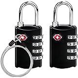 Gifort TSA Candado Combinacion, Candados De Seguridad, Combinación de 4 dígitos para Maleta De Viaje/Bolsa De Viaje/Cerraduras De Equipaje/Archivadores/Caja de Herramientas/Lockers