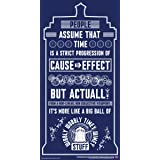 Culturenik Doctor Who Wibbly Wobbly Timey Wimey Quote Tardis Blue Illustration Sci Fi British TV Television Show Print (Unfra