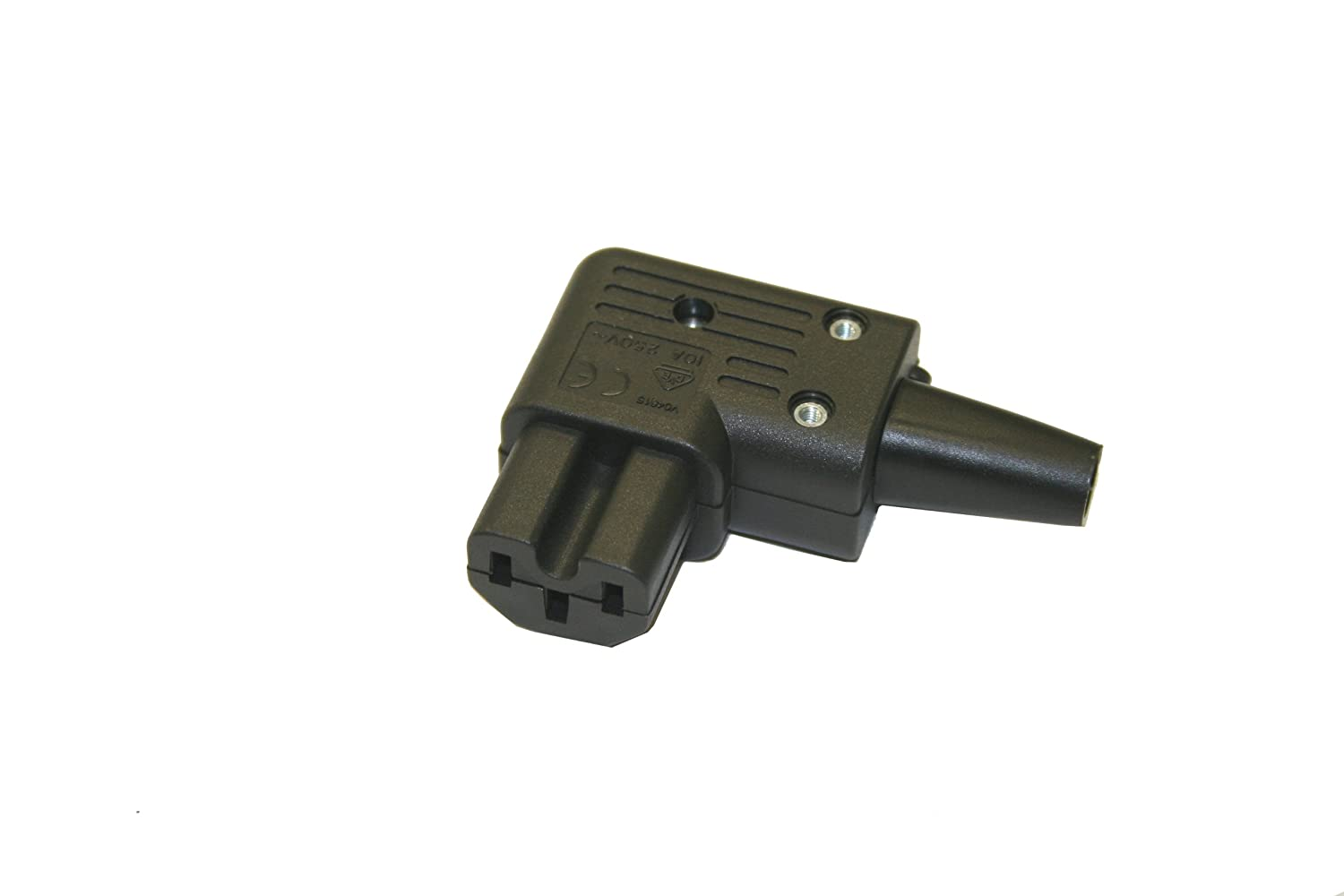 IBX-35693 C14 to Angled C15 Power Cords Left Angle 18//3 AWG 10A//250V